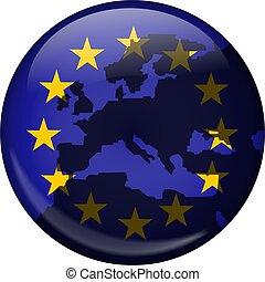 European Globe - Illustration of the flag of Europe shaped...
