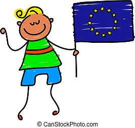 European kid