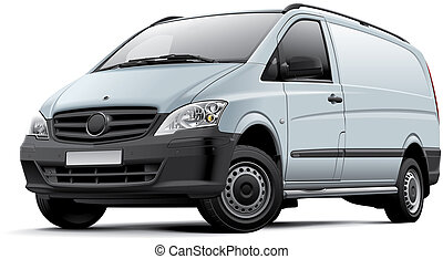European light van - High quality illustration of European...