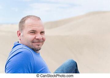 European middle-aged man