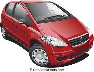 European Modern Minivan - Detailed image of modern minivan,...
