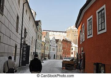 European narrow street