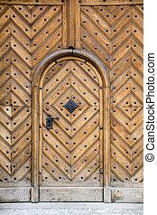 European old wooden door