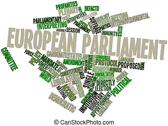 European Parliament - Abstract word cloud for European...