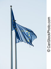European Parliament flags