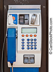 European Payphone - A public payphone in Europe. This...