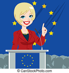 European Politician Woman Candidate