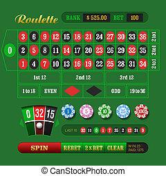 European Roulette Online - Vector illustration
