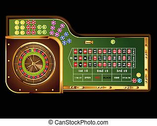 roulette table - european roulette table