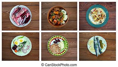 European Scandinavia cuisine. Food set
