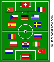 european soccer field
