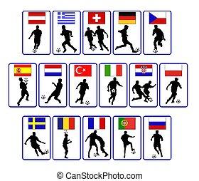 european soccer flags