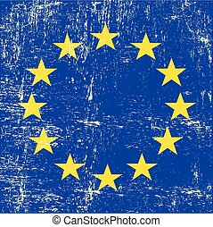 European square grunge Flag