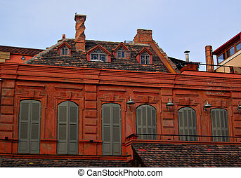 European style of the house roof