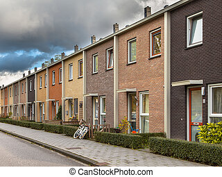 European Style Terrace Houses - Modern Terra Colored Middle...