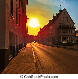 European suburban street