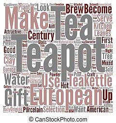 European Teapot Teakettle That Settled The West text...