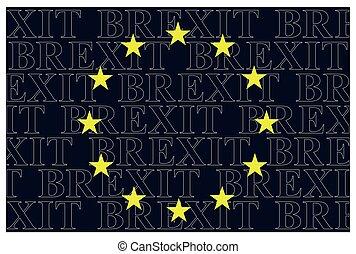 European Union Brexit Text Flag