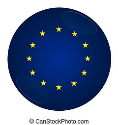 European union button with flag