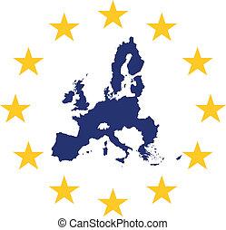 European Union - European union symbol and map
