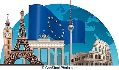 european union concept illustration