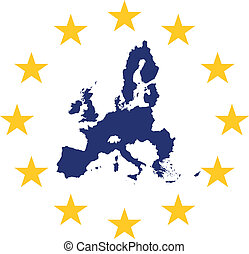 European Union - European union symbol and map