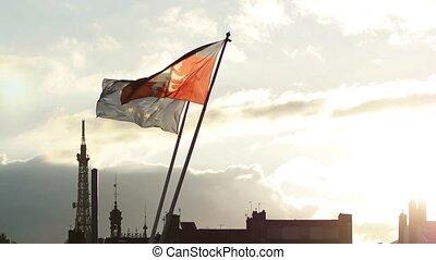 European Union Flag and Rhone-Alpes