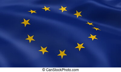 European Union flag in the wind. Part of a series.