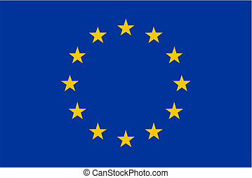 European Union flag - isolated vector illustration