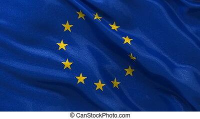 European Union flag seamless loop