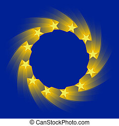 european union flag - stylized version of the european union...