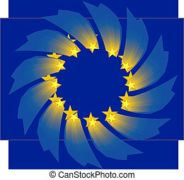 European union flag  - vector, official European union flag