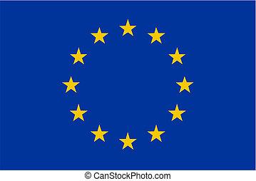 European Union flag - isolated vector illustration