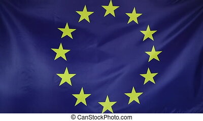 European Union flag moving in the wind