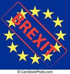European Union flag with text brexit