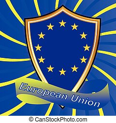 European Union Flags.