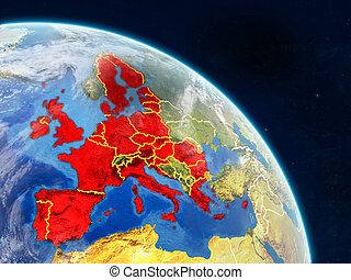 European Union from space