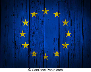 European Union Grunge Background