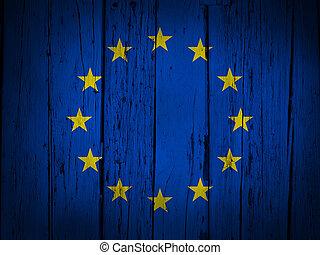 European Union Grunge Background