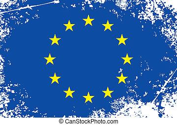 european union grunge flag (eu grunge flag background)
