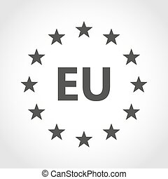 European union icon. Vector illustration. - European union...
