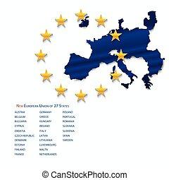 European Union map.
