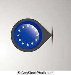 European Union Map Pin