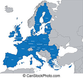 European Union map - The 27 Member State of the European...