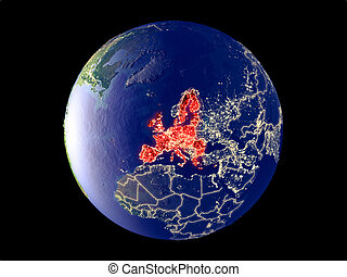 European Union on Earth from space