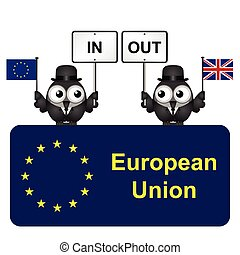 European Union Referendum - Comical bird campaigners for the...