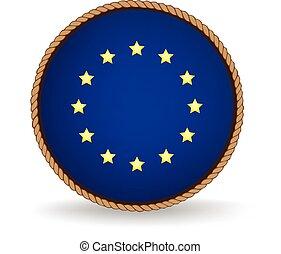 European Union Seal - Flag seal of the European Union.