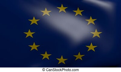 european union strong wind flag