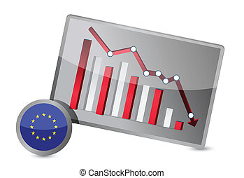 European union suffering crisis graph design