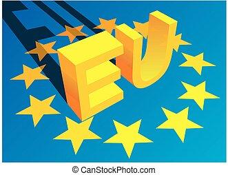 European union symbols as nice 3d background